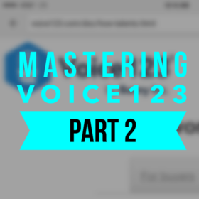 Mastering Voice123 – Part 2