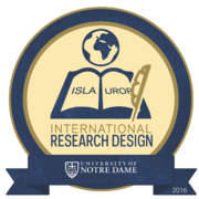 2016 ISLA/UROP International Research Design Badge