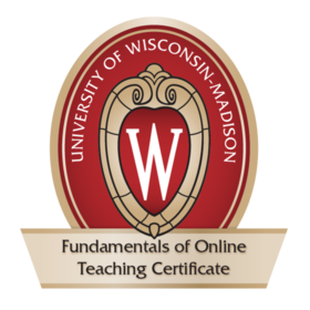 Fundamentals of Online Teaching Conference Certificate