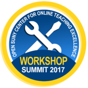Open SUNY Center for Online Teaching Excellence OER Workshop 2017.