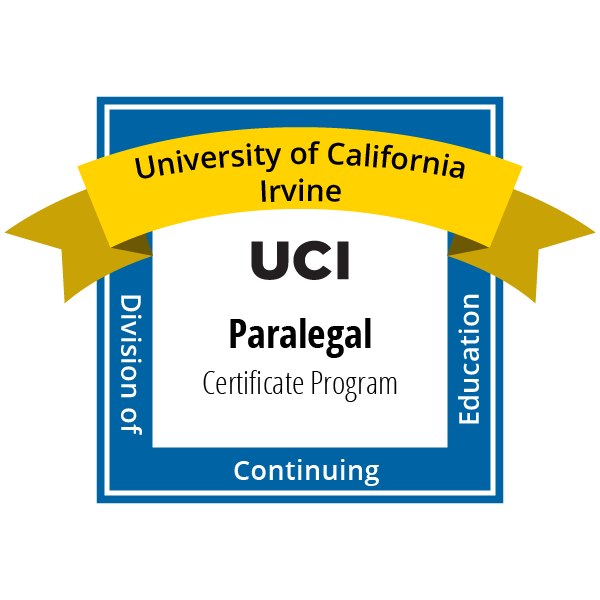 Uci Dce Credentials Paralegal Certificate Program Powered By Credly
