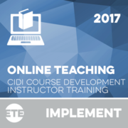Implement - Online Instructor Training 2017