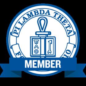 Pi Lambda Theta Honor Society Member