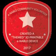 "CREATED A ""THEMED"" 3D PRINTABLE e-NABLE DEVICE"