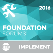 Implement - Foundation Forum Events 2016