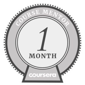 Coursera Mentor - 1 Month