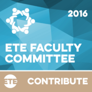 Contribute - ETE Faculty Committee 2016