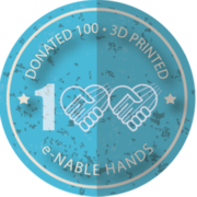 Donated 100 e-NABLE Hands