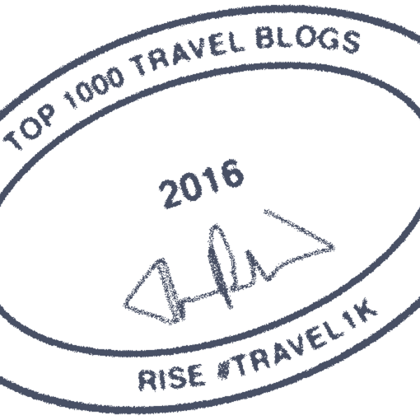 #travel1k Top Travel Blogger badge icon