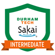 Intermediate Sakai Instructor Badge
