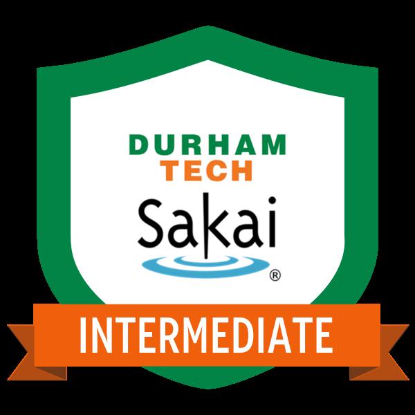 Intermediate Sakai Instructor Badge