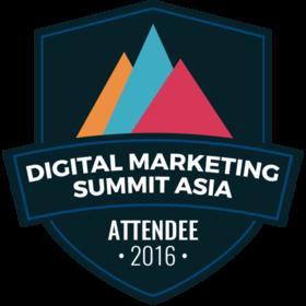 Digital Marketing Summit Asia 2016 Attendee