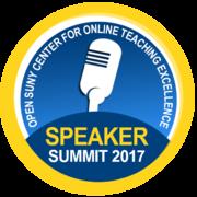 Open SUNY COTE Summit 2017 Speaker.