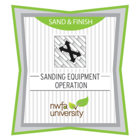 Sanding Equipment Operation