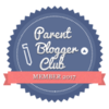 badge image for 2017 Parent Blogger Club Member