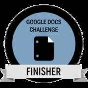 Google Docs Challenge Finisher