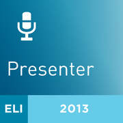2013 ELI Annual Meeting Presenter