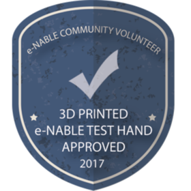 3D PRINTED e-NABLE TEST HAND APPROVED