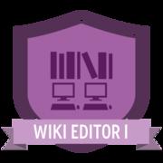 Wiki Editor I