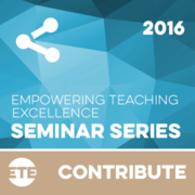 Contribute - Faculty Seminar Series 2016