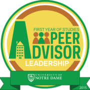 Peer Advisor Leadership Badge