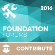 Contribute - Foundations Forum Events 2016