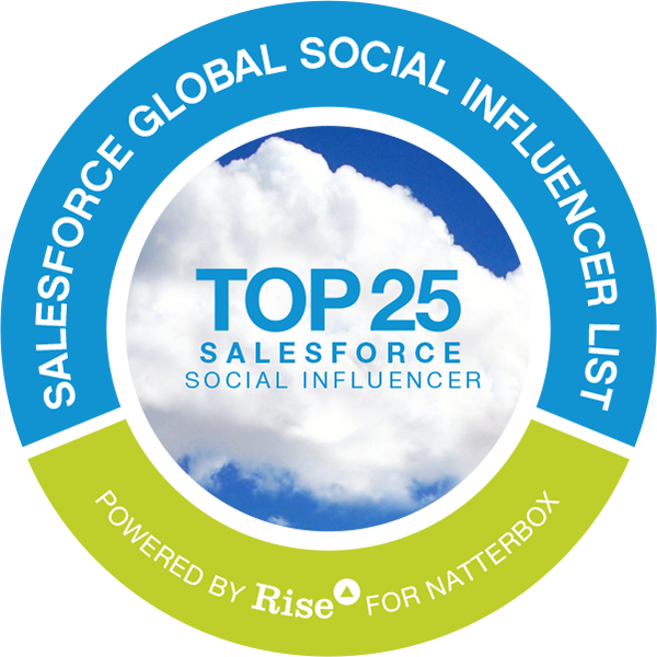 Salesforce Global Social Influencer List badge icon