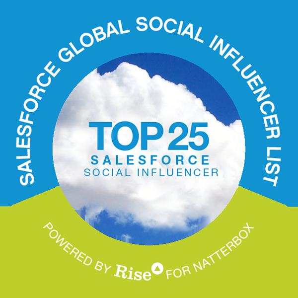 Salesforce Global Social Influencer List badge icon