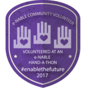 VOLUNTEERED AT AN e-NABLE HAND-A-THON EVENT