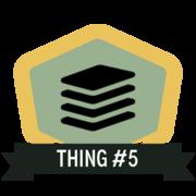 Thing 5: Data sharing