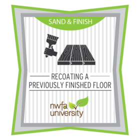 Recoating a Previously Finished Wood Floor