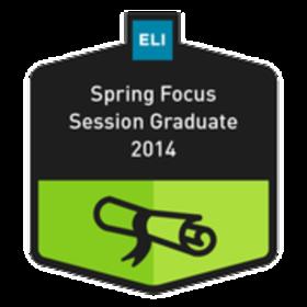 ELI Spring Focus Session Graduate