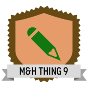 M&H Thing 9 - Describing data: metadata and controlled vocabularies