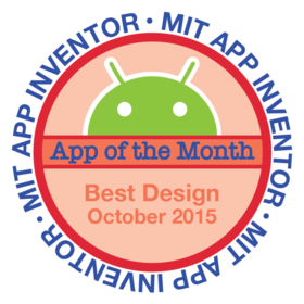 MIT APP INVENTOR APP OF THE MONTH, OCTOBER 2015