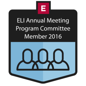 ELI Annual Meeting Program Committee Member 2016