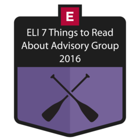 EDUCAUSE ELI 7 Things You Should Read About Advisory Group