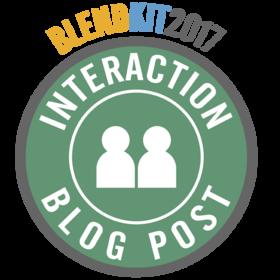 BlendKit2017: Interactions – Blog Post