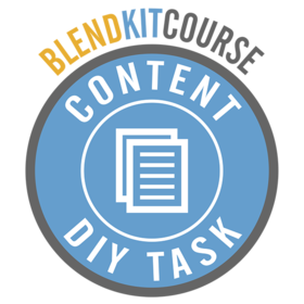 BlendKit2014: Content - DIY Tasks