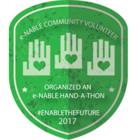 ORGANIZED AN e-NABLE HAND-A-THON EVENT