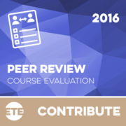 Contribute - Peer Review Course Evaluation 2016